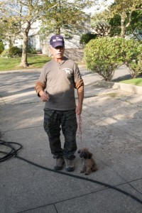 Barry with a small dog